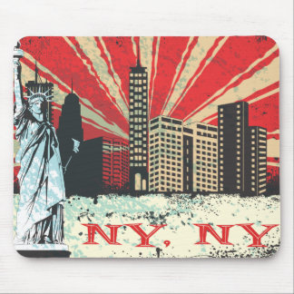 Vintage NY in Red Mouse Mat