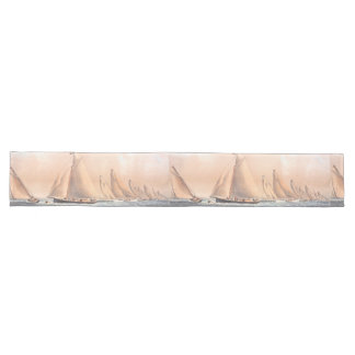 Vintage NY Yachts Regatta Boats 1854 Table Runner