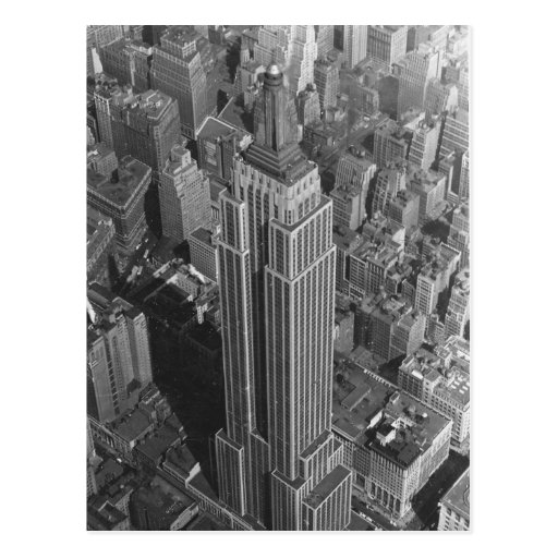 Vintage NYC ~ Aerial View Empire St Bldg/McCreey's Post Card