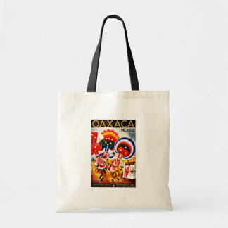 Vintage Oaxaca Dance Festival Mexico Travel Budget Tote Bag