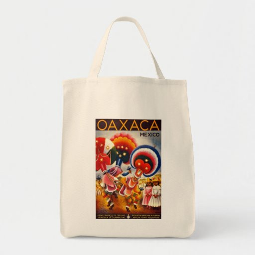 Vintage Oaxaca Mexico Tote Bags