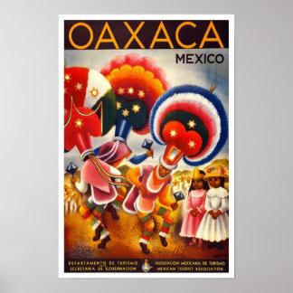 Vintage Oaxaca, Mexico Travel Poster