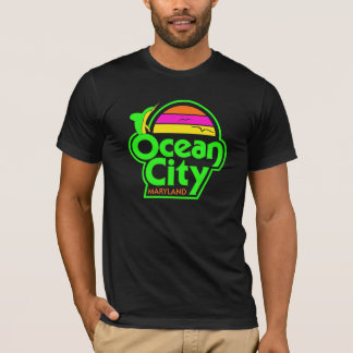 VINTAGE OCEAN CITY in neon T-Shirt