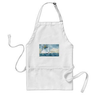 Vintage Ocean Liners Travel Poster Standard Apron