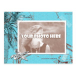 Vintage Ocean Map Collage Turquoise Photo Frame
