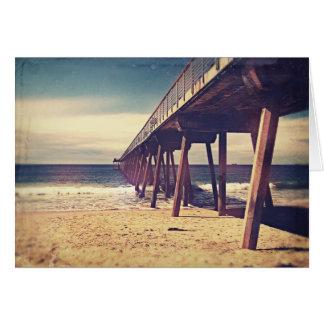 Vintage Ocean Pier Card