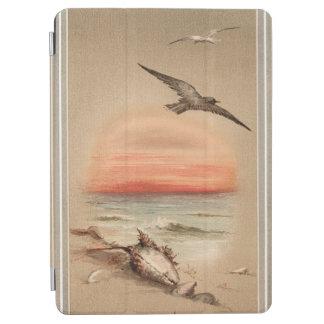 Vintage Ocean Sunset and Seashells iPad Air Cover