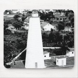 Vintage Ocracoke Lighthouse photograph Mouse Mat