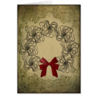 Vintage Octopus Christmas Card