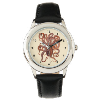 Vintage Octopus Macropus, Marine Aquatic Animals Watch