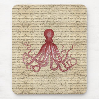 Vintage octopus mouse mat
