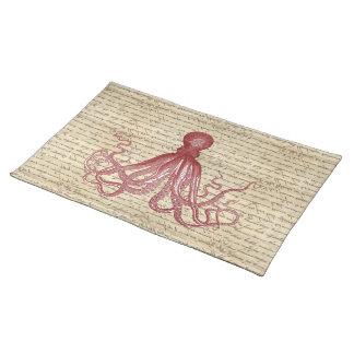 Vintage octopus placemat