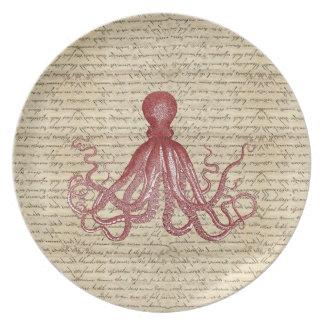 Vintage octopus plates