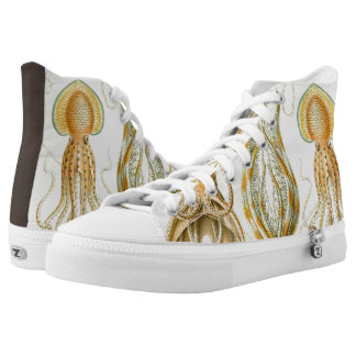 Vintage Octopus Squid Gamochonia by Ernst Haeckel High Tops