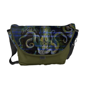Vintage Octopus & Squid  Rickshaw Messenger Bag