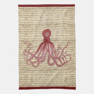 Vintage octopus tea towel