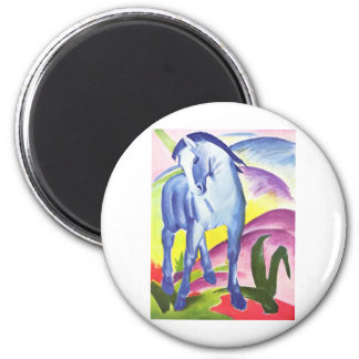 Vintage Oil On Canvas Horse From 1911 6 Cm Round Magnet