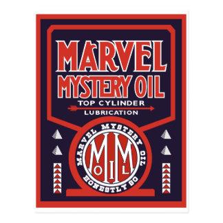 Vintage Oil sign reproduction Postcard