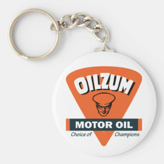 Vintage Oilzum motor oil sign Basic Round Button Key Ring