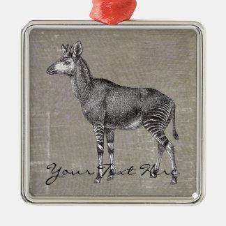 Vintage Okapi Christmas Ornament