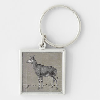 Vintage Okapi Key Ring