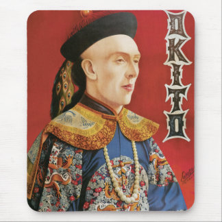 Vintage Okito Magician Poster Mouse Pads