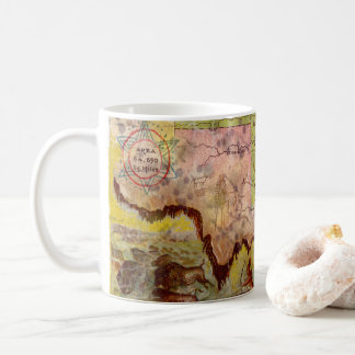 Vintage Oklahoma Pictorial Indian Territory Map Coffee Mug