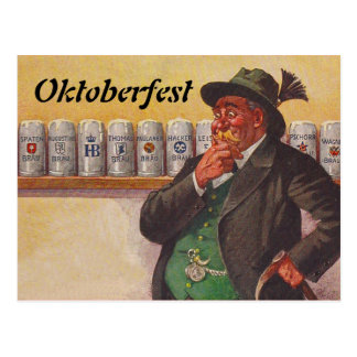 Vintage Oktoberfest Octoberfest Choices Postcards