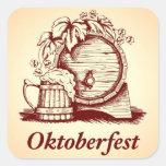 Vintage Oktoberfest Square Sticker