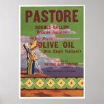 Vintage Old American Indian Olive Oil Crate Labels Poster