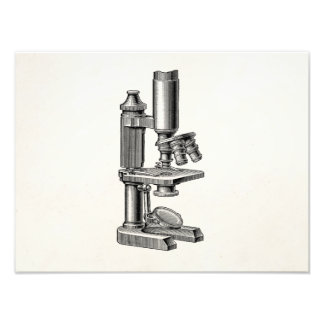 Vintage Old Antique Science Equipment Microscope Photo Print