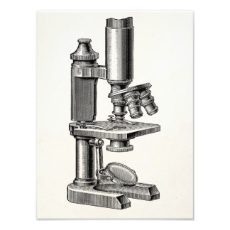 Vintage Old Antique Science Equipment Microscope Photograph