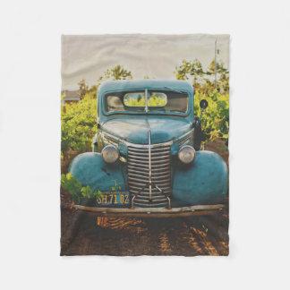 Vintage Old Antique Truck Vehicle Fleece Blanket