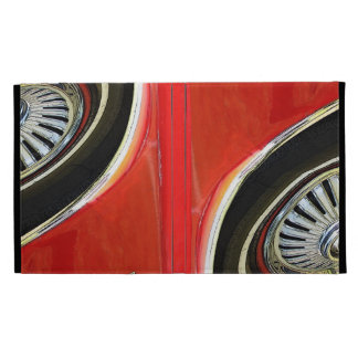 Vintage old Classic Red Car abstract -iPad Folio iPad Folio Case