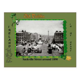 Vintage Old Dublin Postcard