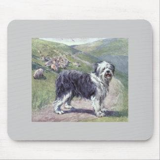 Vintage old english sheepdog mousemat