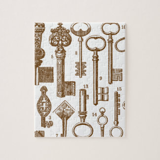 Vintage Old Fashioned Antique Key Set Jigsaw Puzzle