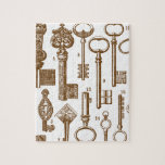 Vintage Old Fashioned Antique Key Set Jigsaw Puzzle