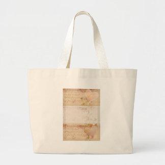 Vintage, old fashioned design tote bag