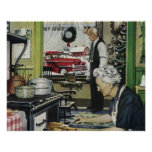 Vintage Old Fashioned Home Christmas Poster