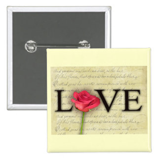 Vintage Old Fashioned Love Button