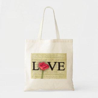 Vintage Old Fashioned Love Canvas Bag