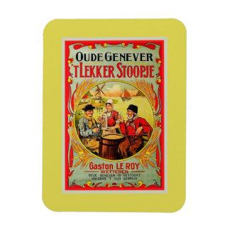 Vintage Old Flemish Genever (Jenever, Gin) ad Rectangular Photo Magnet