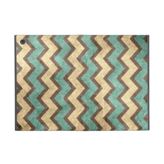vintage old grungy paper effect chevron zigzag cover for iPad mini
