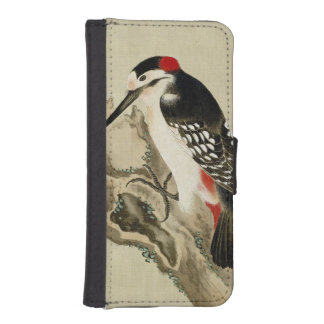 Vintage Old Japanese Painting of a Small Bird iPhone SE/5/5s Wallet Case