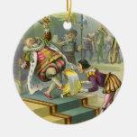 Vintage Old King Cole Nursery Rhyme Fairy Tale Christmas Tree Ornament