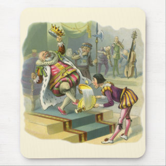 Vintage Old King Cole Nursery Rhyme Poem Song Mouse Pad