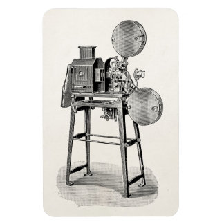 Vintage Old Movie Camera Cinematography Equipment Magnet
