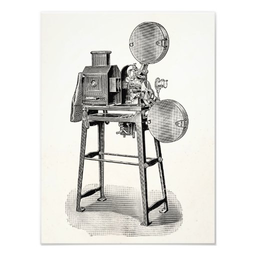 Vintage Old Movie Camera Cinematography Equipment Art Photo