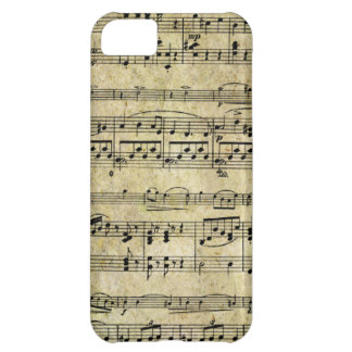 Vintage Old Music Notes Paper Texture iPhone 5C Case